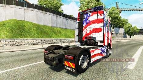 USA skin for Volvo truck for Euro Truck Simulator 2