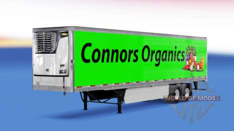 Skin Conors Organics on the trailer for American Truck Simulator