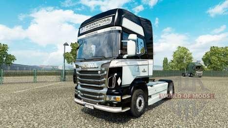 JKT International skin for Scania truck for Euro Truck Simulator 2