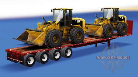The semitrailer-site with construction equipment for American Truck Simulator