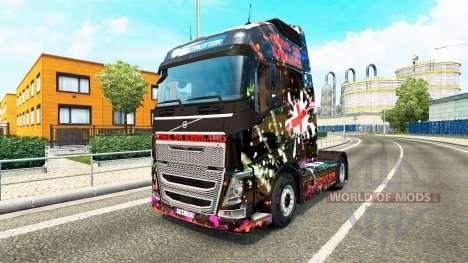 England skin for Volvo truck for Euro Truck Simulator 2