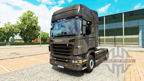 Carbono skin for Scania truck for Euro Truck Simulator 2