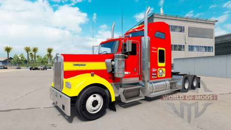 Skin USMC v1.01 on the truck Kenworth W900 for American Truck Simulator
