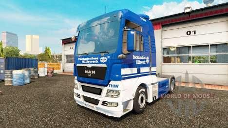 Skin THW tractor MAN for Euro Truck Simulator 2