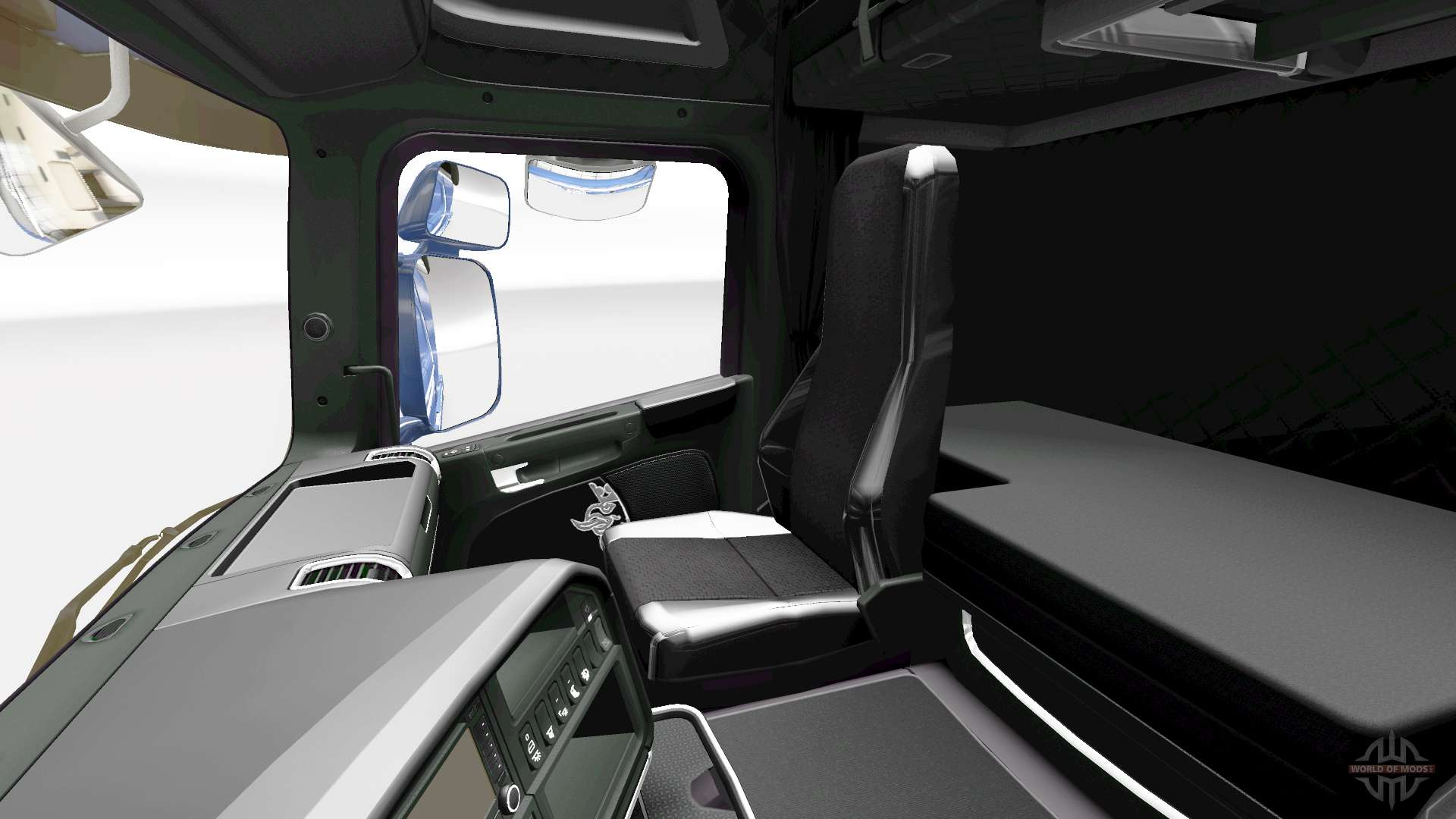 The dark line exclusive interior for scania for euro truck simulator 2