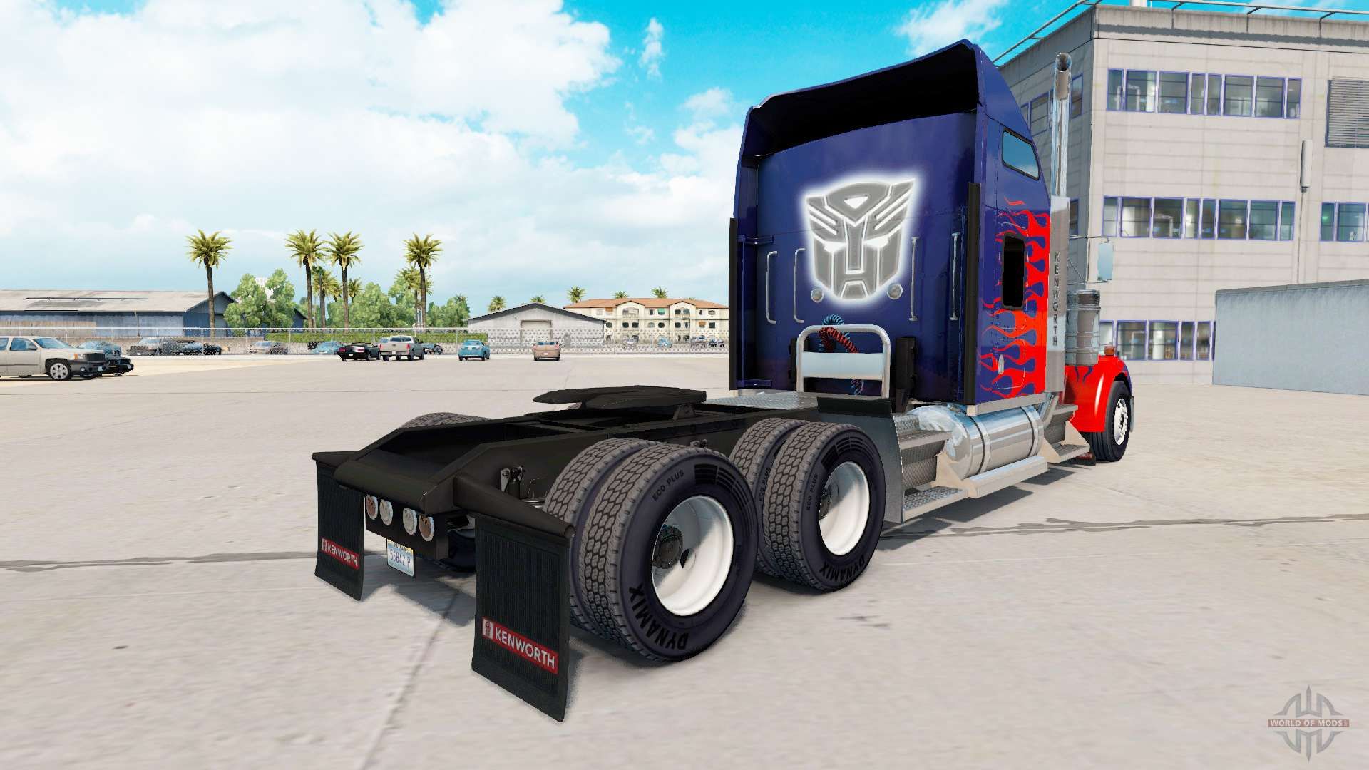 Skin for Optimus Prime truck Kenworth W900 for American