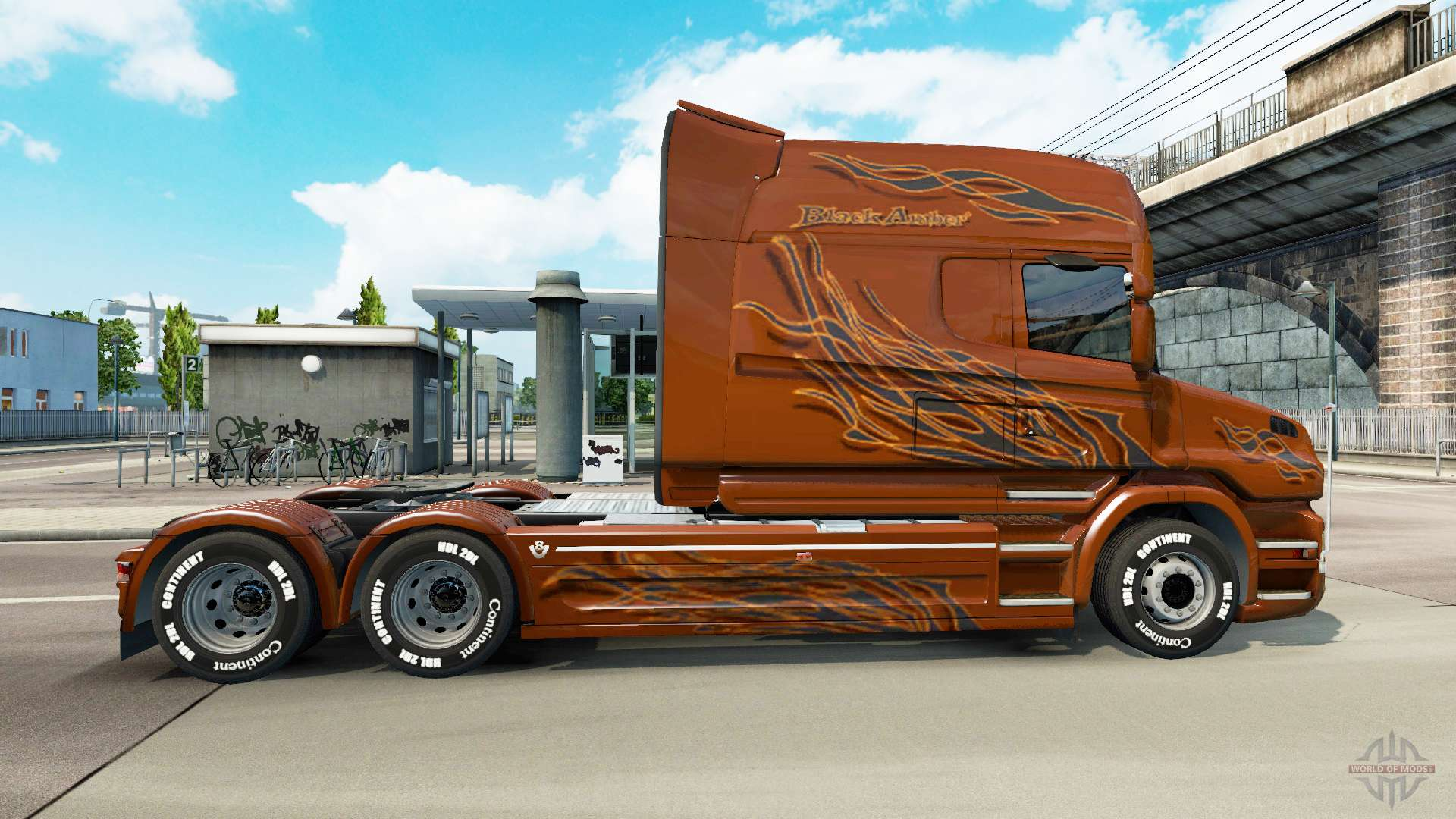 Scania T Longline Black Amber For Euro Truck Simulator 2