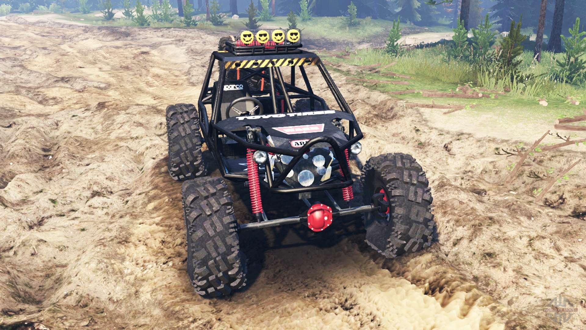 Rock Crawler Wheels : Rock crawler v for spin tires