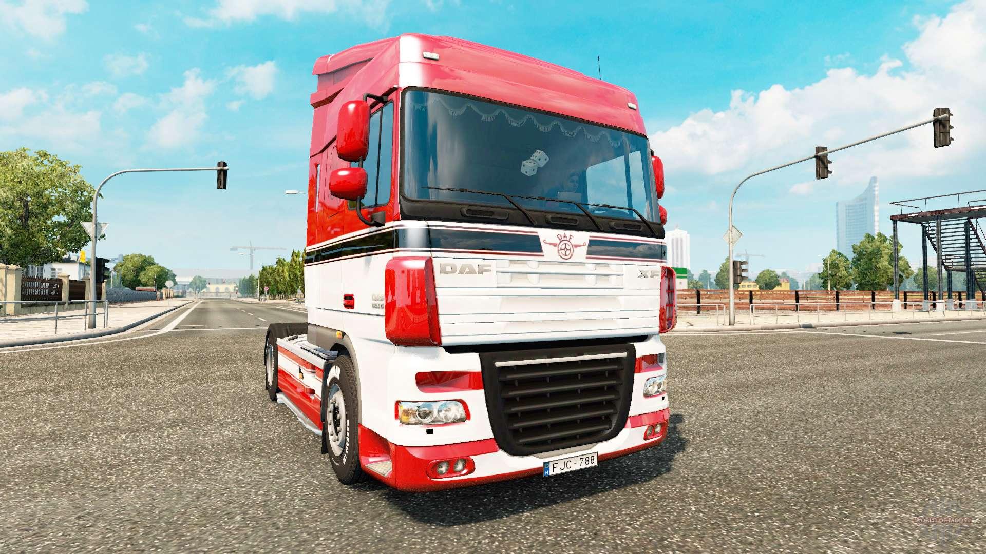 daf xf for euro truck simulator 2. Black Bedroom Furniture Sets. Home Design Ideas