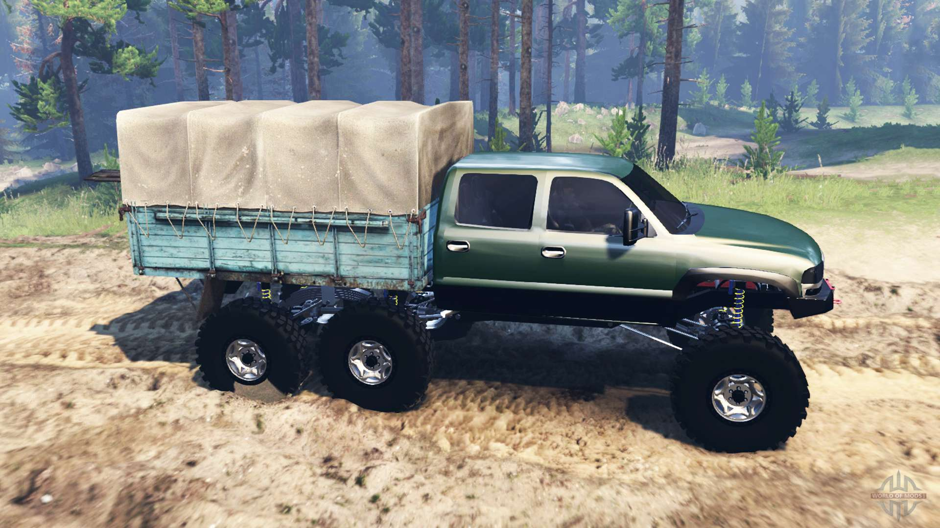 Gmc sierra 3500 2001 6x6 for spin tires
