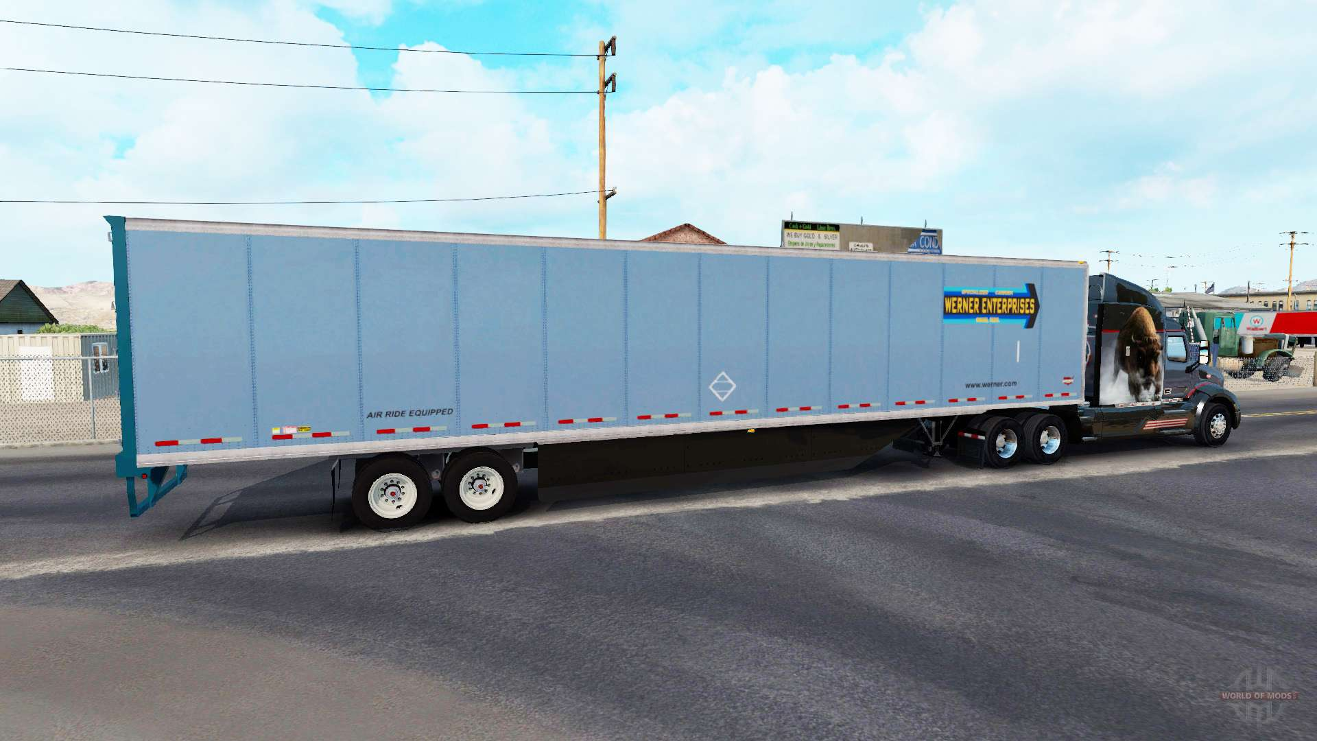 Semi Tractor Trailer : All metal semi trailer for american truck simulator