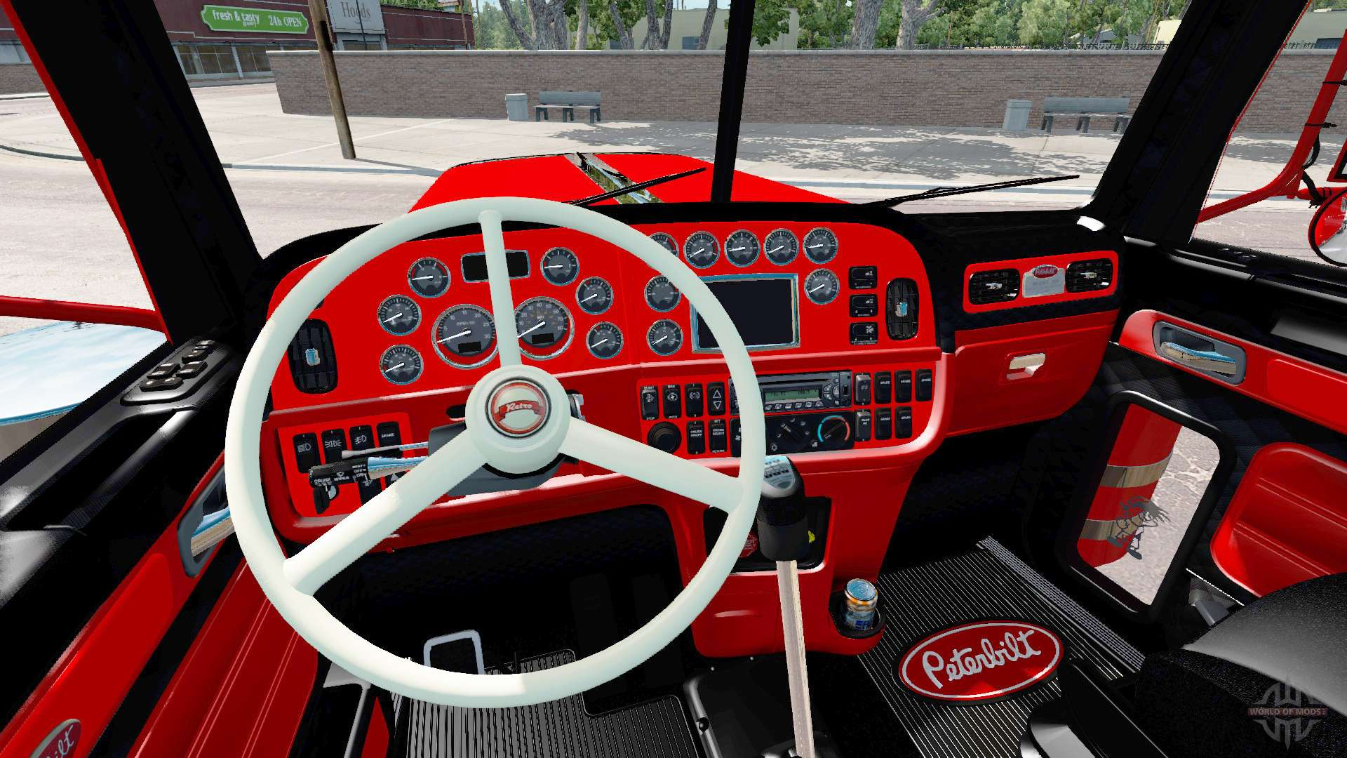 The interior is Red and Black Peterbilt 389 for American ...