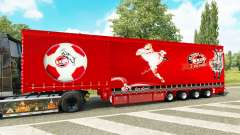 Krone curtain semi-trailer 1. FC Koln