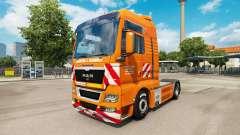 The J. Eckhardt Spedition skin for truck MAN for Euro Truck Simulator 2