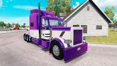 Skin Mauve and White for the truck Peterbilt 389