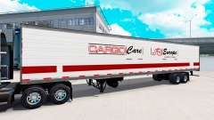 Semi-trailers with real logos v1.0.1 for American Truck Simulator