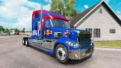 Red Bull skin for the Freightliner Coronado trac