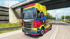The Colombia Copa 2014 skin for Scania truck