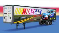 Skin on NASCAR's all-metal trailer