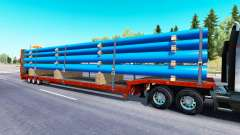 Low sweep with a cargo of pipes for American Truck Simulator