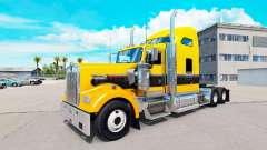 Skin Gold Black on the truck Kenworth W900