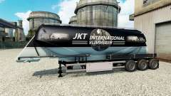 JKT International skin for the semitrailer-cement truck for Euro Truck Simulator 2