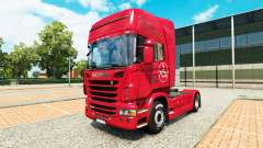 Skin 1. FC Nurnberg in the Scania truck for Euro Truck Simulator 2
