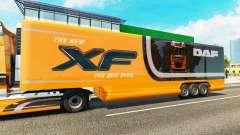 Semi-trailer refrigerator truck DAF XF