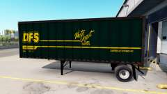 Semi-trailers with real company logos