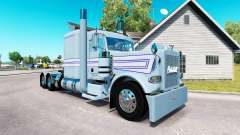 Skin Blue-white stripes for the truck Peterbilt