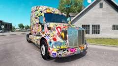 Sticker Bomb skin for the truck Peterbilt