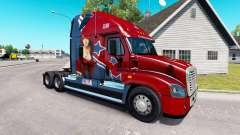 Skin Mandy at tractor Freightliner Cascadia