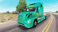 Abilene Express skin for Volvo truck VNL 670 for American Truck Simulator