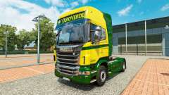 The Ouro Verde Transportes skin for Scania truck
