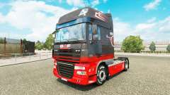 Grey Red skin for DAF truck