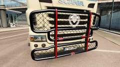 The V8 bumper on the tractor Scania