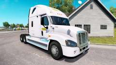 The skin on the J. B. Hunt tractor Freightliner