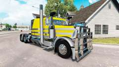 Скин Silvery-yellow metallic на Peterbilt 389
