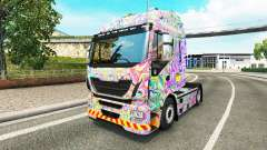 Skin Psychedelic on the truck Iveco