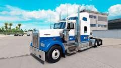 Skin Blue-white-truck Kenworth W900