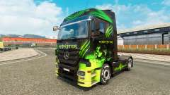 The skin Monster on truck Mercedes-Benz