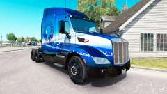 Skin Blue Lion Transport on tractor Peterbilt