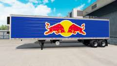 Skin Red Bull on the semitrailer-the refrigerato