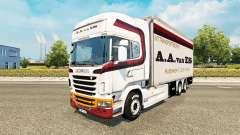 Skin A. A. van ES for tractor Scania Tandem