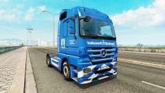 Volkswerft Stralsund skin for truck Mercedes-Benz for Euro Truck Simulator 2