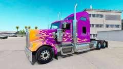 Skin California Flames on the truck Kenworth W90