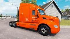 Bourassa skin for the truck Peterbilt for American Truck Simulator