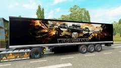 Skin World of Tanks on the trailer