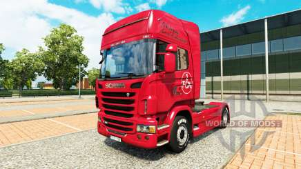 Skin 1. FC Nurnberg in the Scania truck for Euro Truck Simulator 2