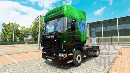 Exclusive Metallic skin for Scania truck for Euro Truck Simulator 2